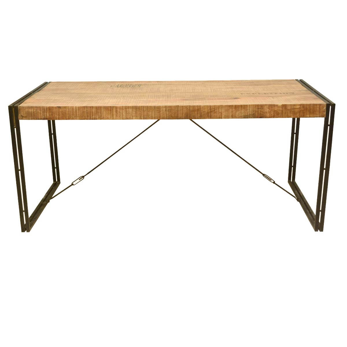 Large Rustic Industrial Style Mango Wood and Iron Dining Table : 58031 from www.sierralivingconcepts.com size 1200 x 1200 jpeg 81kB