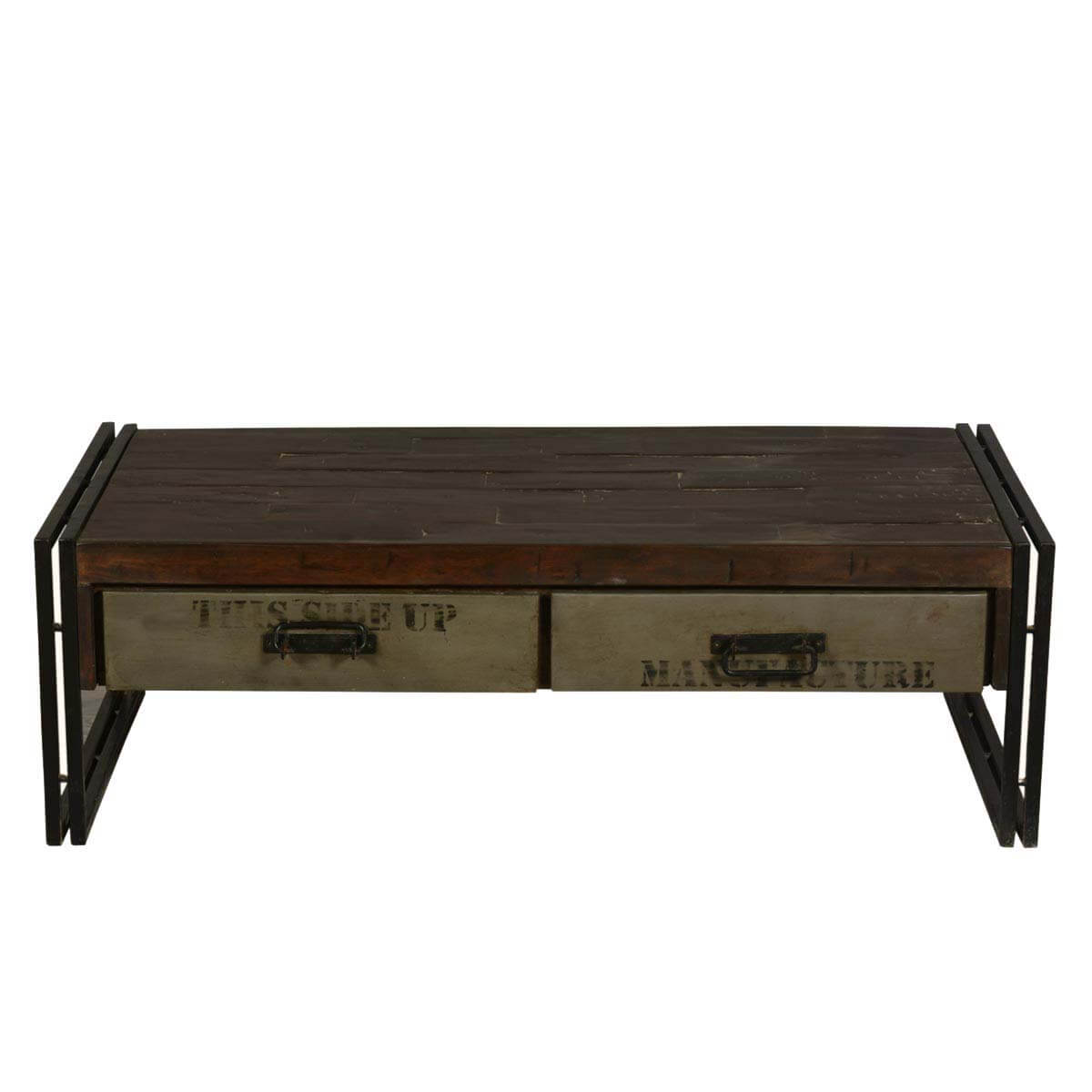 Reclaimed Wood And Metal Coffee Table: Philadelphia Modern Rustic Reclaimed Wood & Metal Coffee Table