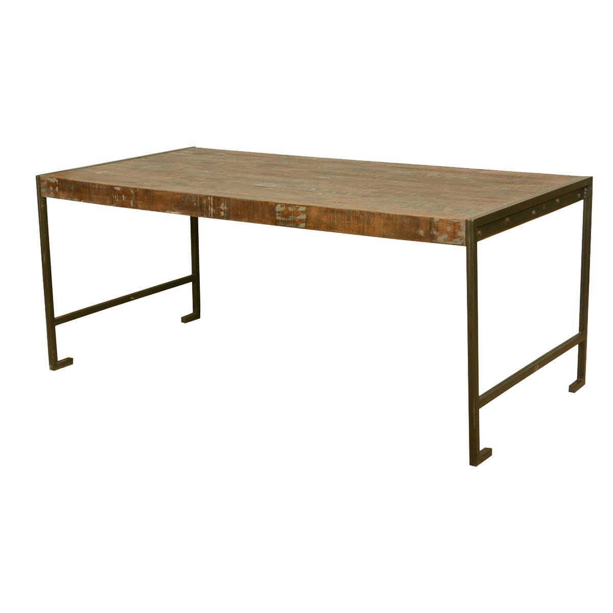 Philadelphia modern rustic reclaimed wood industrial Rustic wood dining table