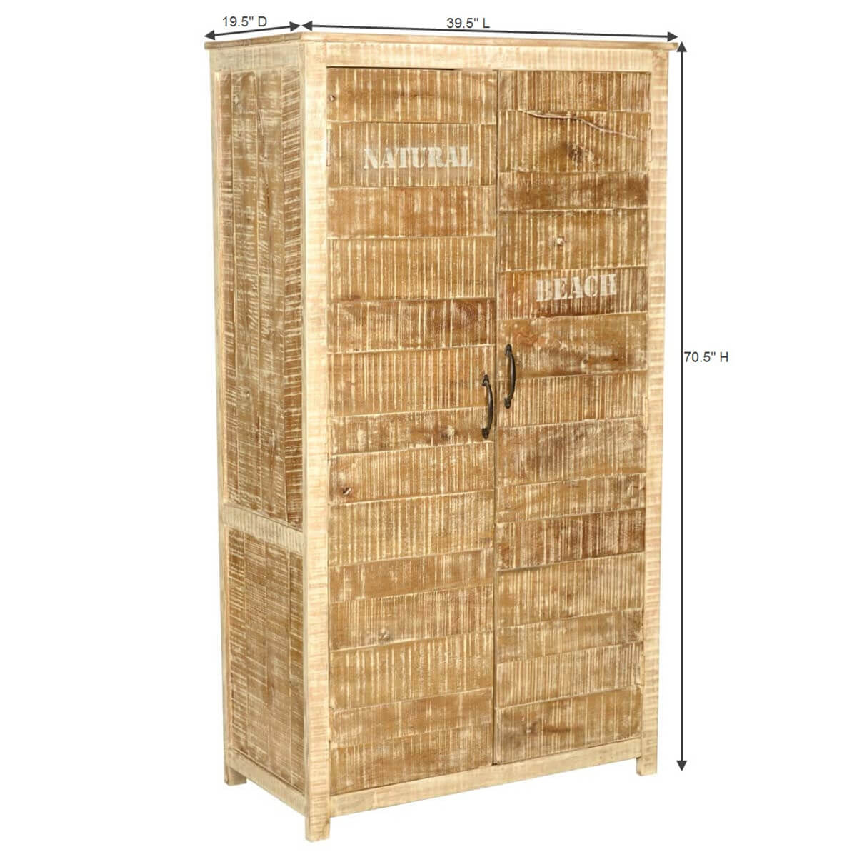 Solid Wood Bedroom Armoire ~ New orleans rustic distressed solid wood bedroom armoire