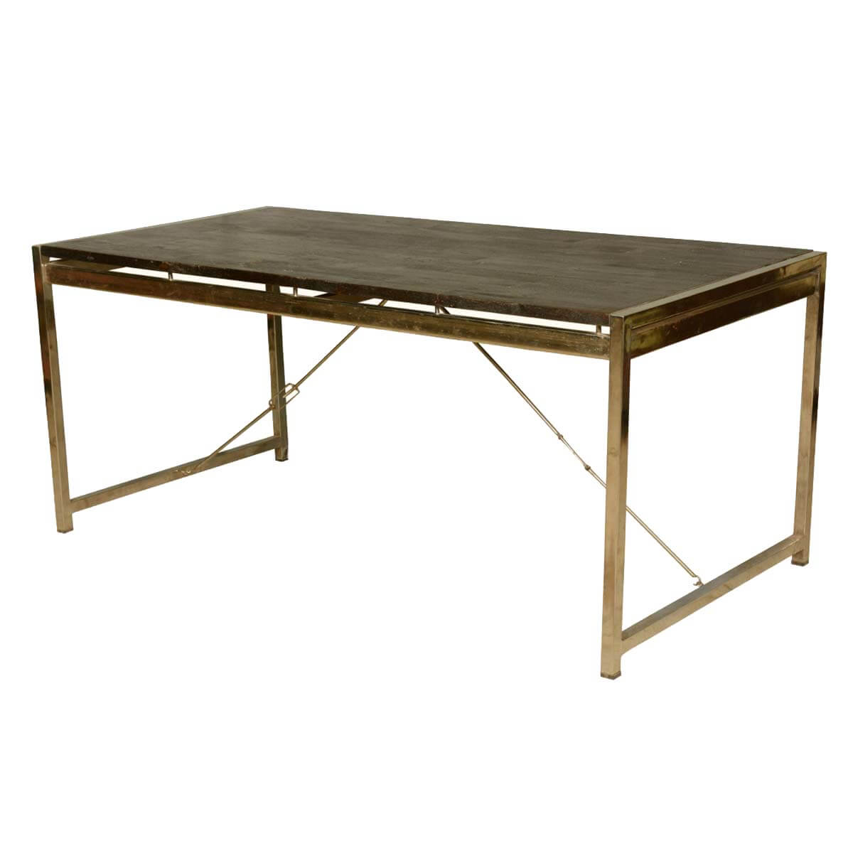 Modern Industrial Mango Wood Iron Rectangular Rustic Dining Table