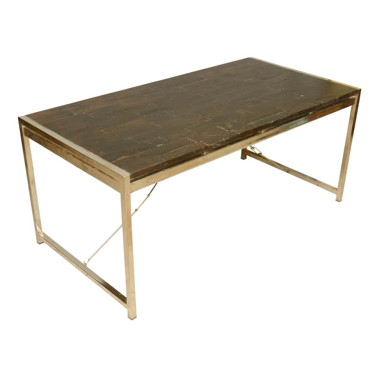 Modern Industrial Mango Wood Iron Rectangular Rustic