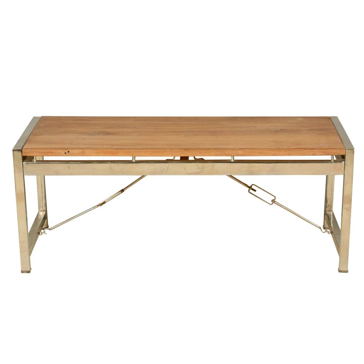Modern Industrial Fusion Solid Wood Iron Rustic Coffee Table