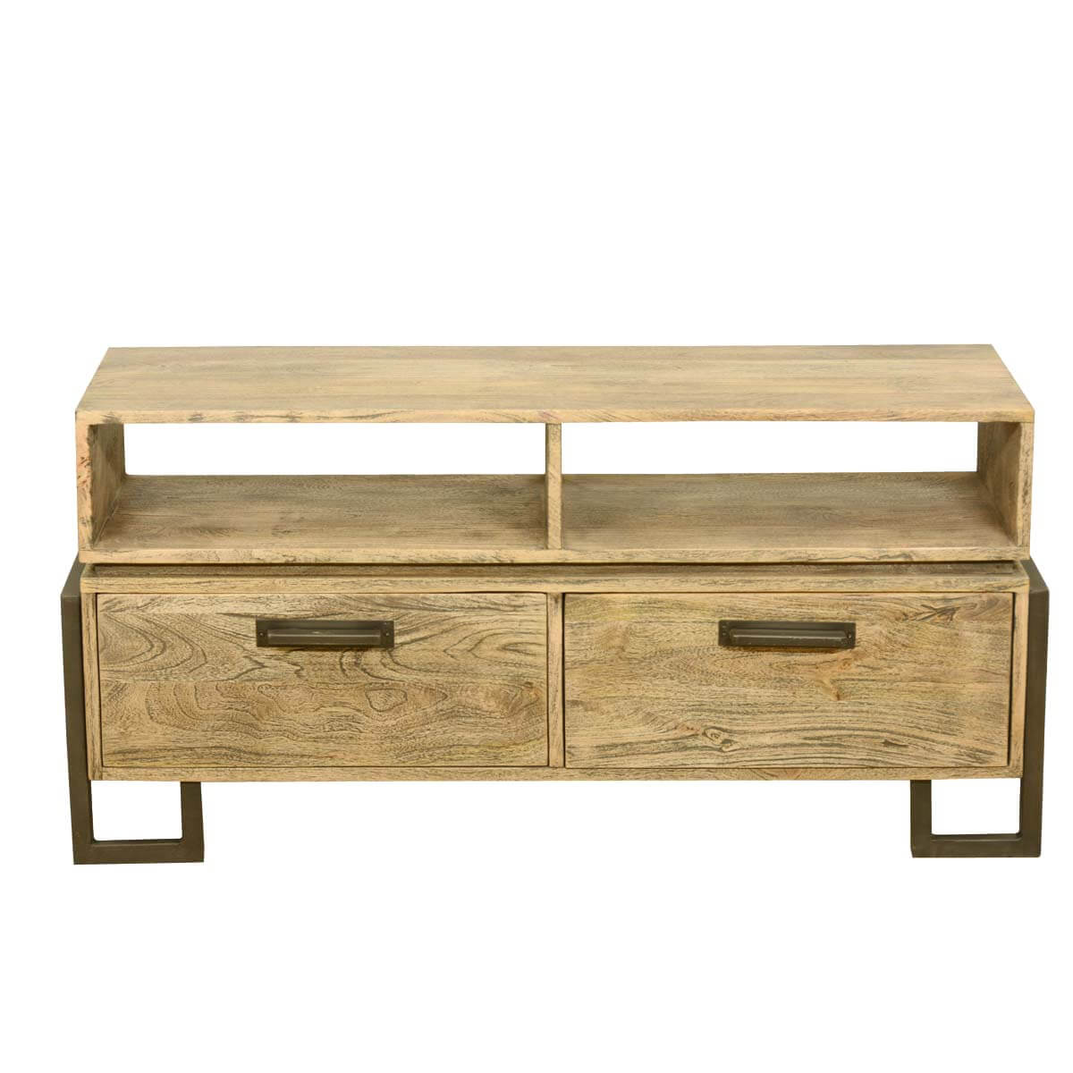 80 Wood Rustic Tv Stand Console MediaUnique Four Hands
