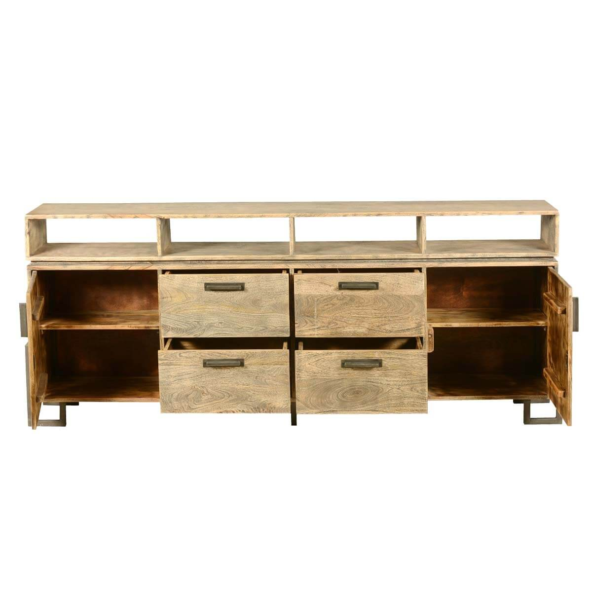 Industrial Fusion Modern Rustic Solid Wood Storage Buffet