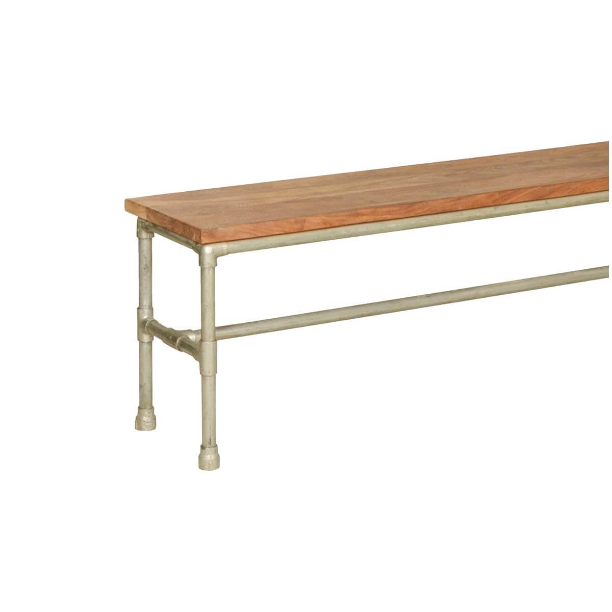 Ciera Acacia Wood Iron Industrial Narrow Bench