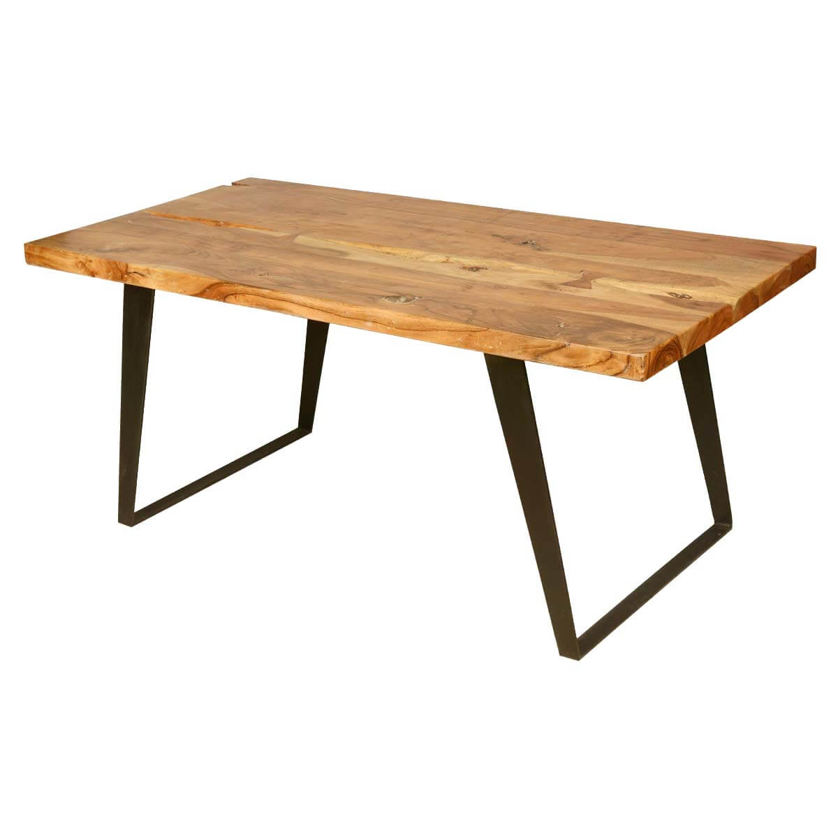 Hankin modern rustic solid wood industrial style dining table Rustic wood dining table