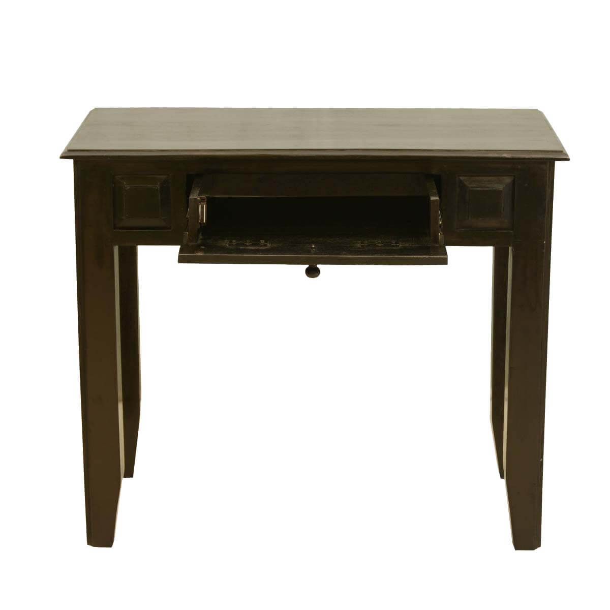 Colonial mango wood console table desk w drawer