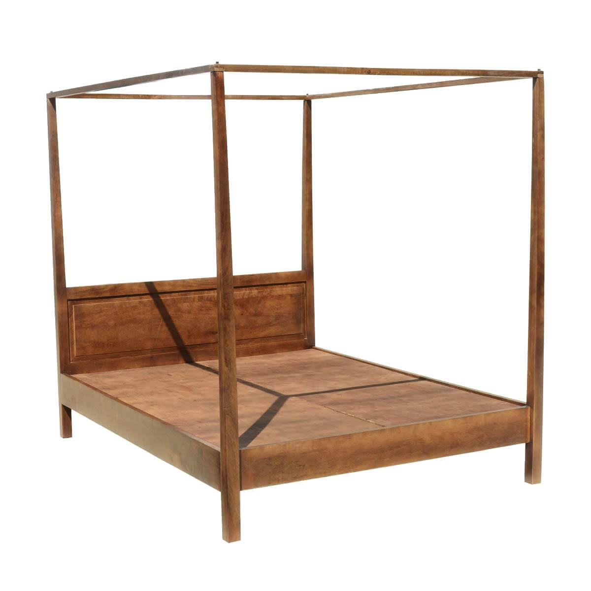 Wooden Canopy Bed Frames Mission Solid Mango Wood 4 Post