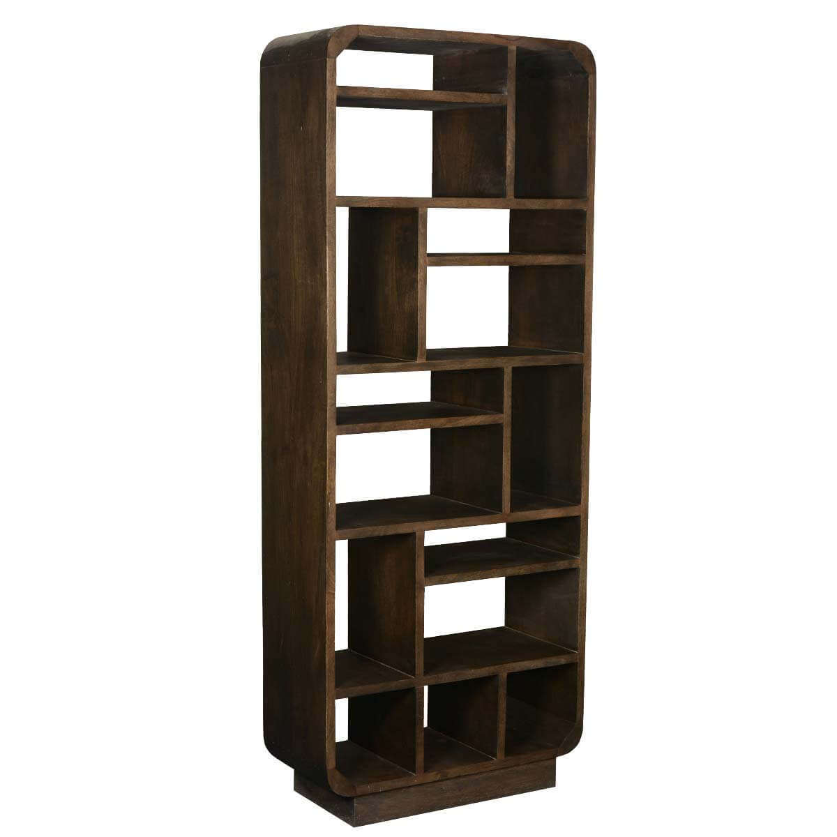 #624831  Bookcase Rounded Corners Mango Wood 15 Section Asymmetrical Cube with 1200x1200 px of Best Cube Bookcase Wood 12001200 image @ avoidforclosure.info