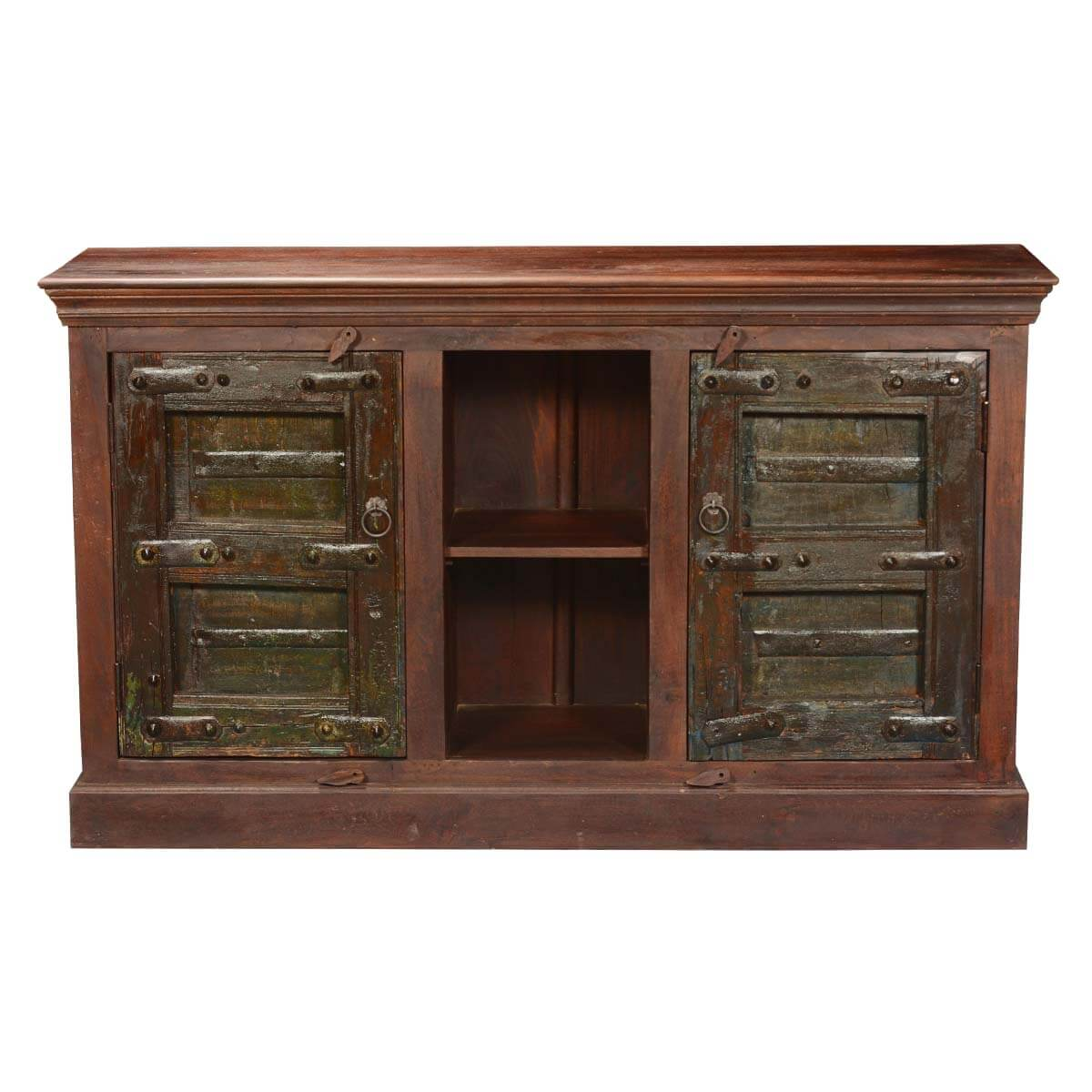 Gothic Gates Reclaimed Wood Display Shelves Sideboard Cabinet