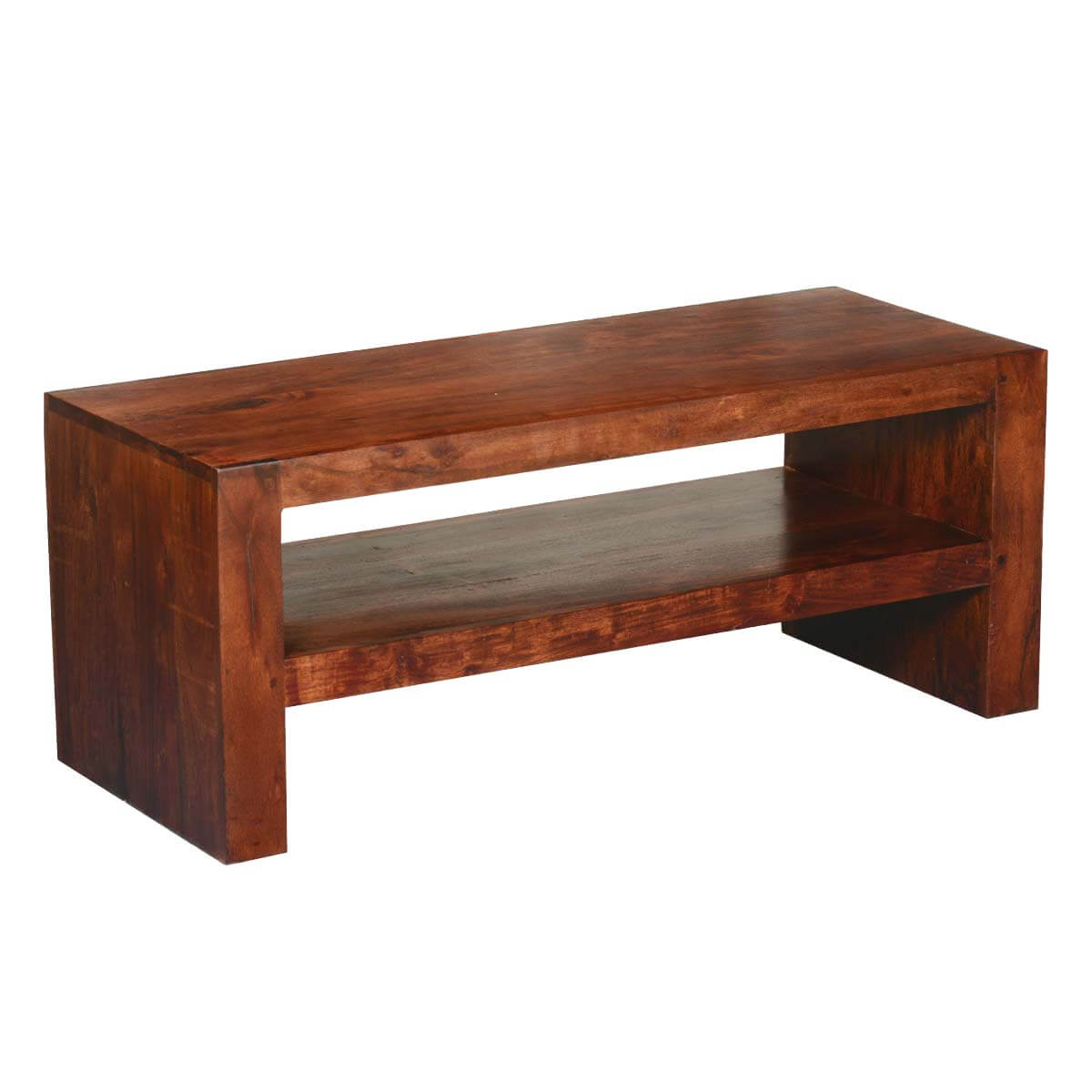 modern simplicity acacia wood tv stand media case coffee table