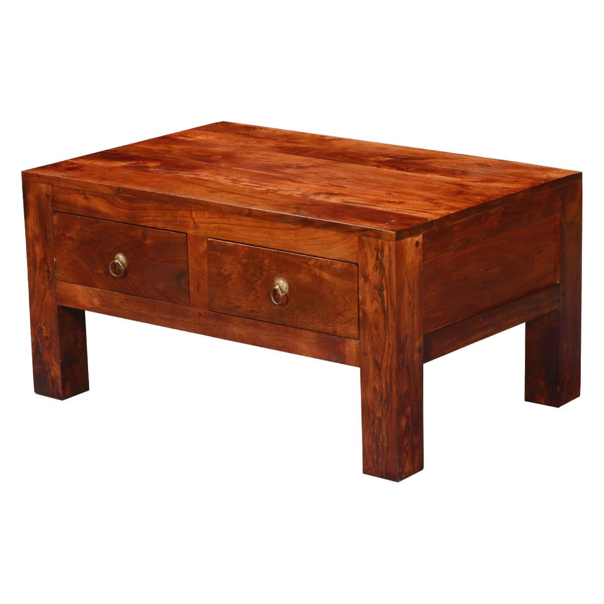 Superb img of Modern Simplicity Acacia Wood 4 Drawer Chest Coffee Table with #B28C19 color and 1200x1200 pixels