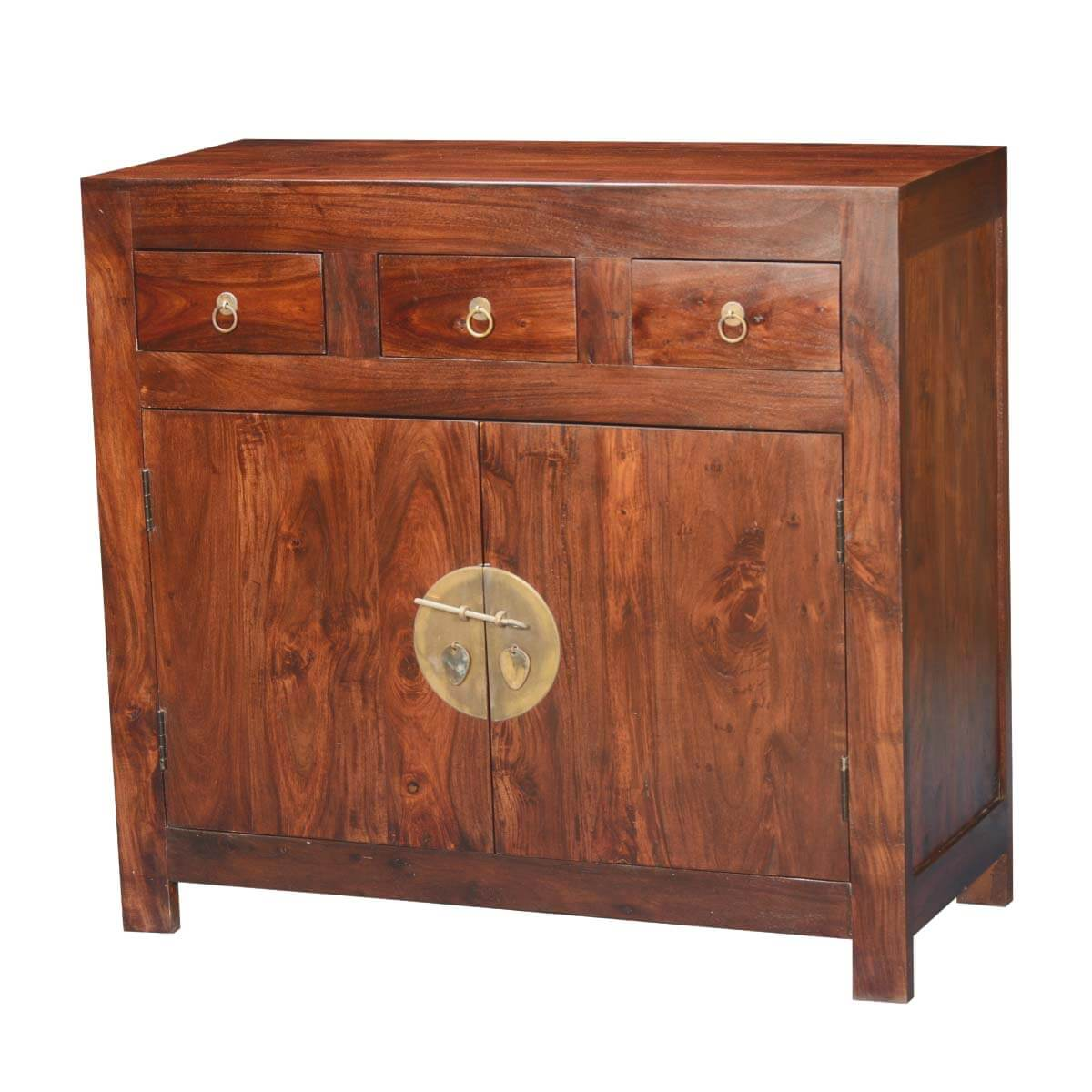 Strawberry moon indian rosewood acacia modern buffet cabinet for Sideboard indien