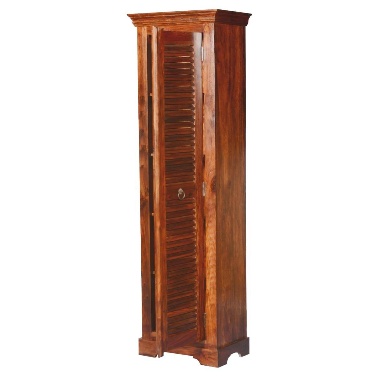 Acacia Wood Door : Farmhouse shutter door solid wood acacia quot tower cabinet