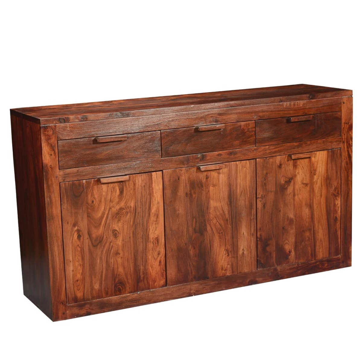 Modern simplicity solid wood acacia quot sideboard cabinet