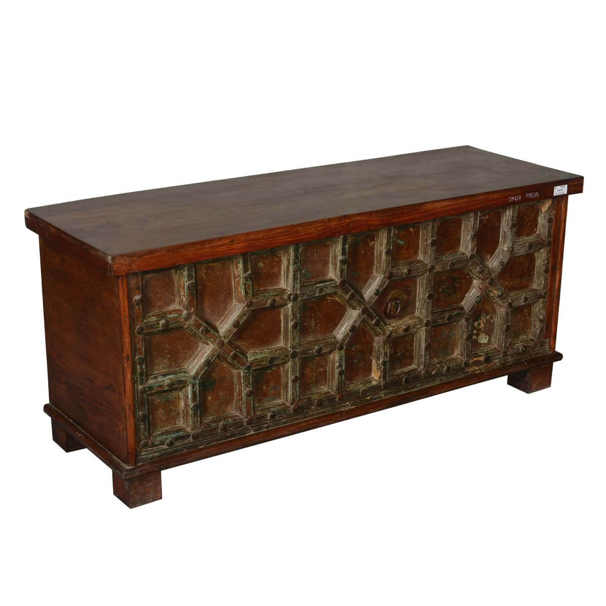 Gothic Gates Reclaimed Wood Standing 58 Coffee Table Chest