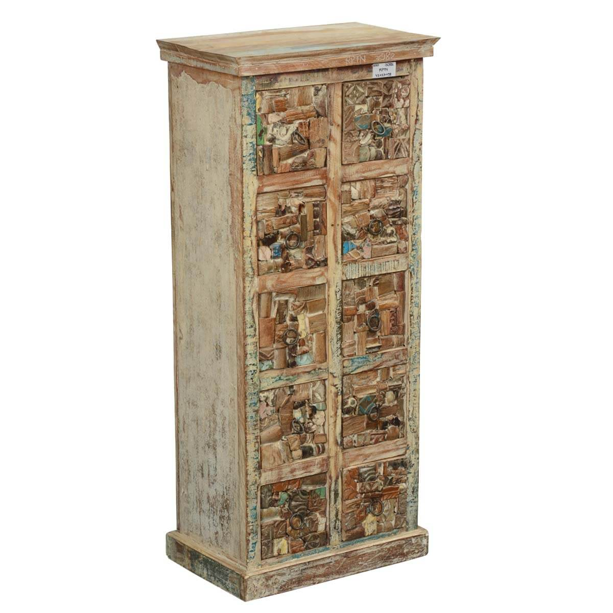 Marvelous photograph of  Artisan Collection Mosaic Reclaimed Wood Pillbox Drawer Chest Tower with #B27F19 color and 1200x1200 pixels
