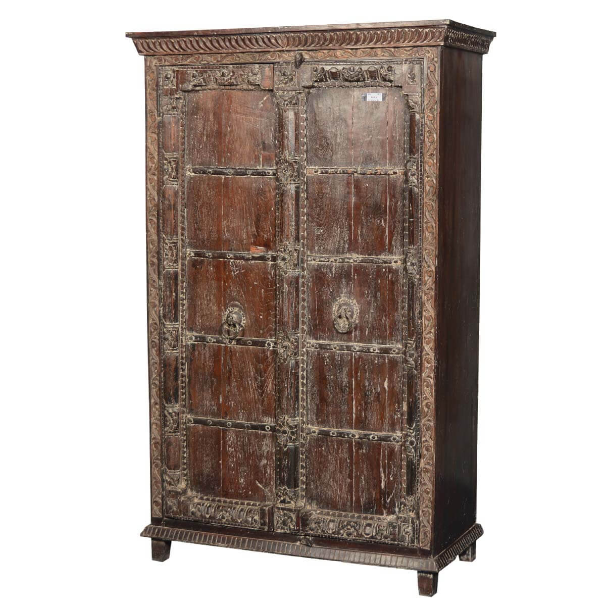 rustic reclaimed wood hampshire bedroom armoire wardrobe cabinet