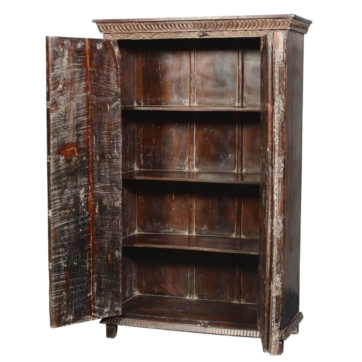 Marvelous photograph of  Rustic Reclaimed Wood Hampshire Bedroom Armoire Wardrobe Cabinet with #B48317 color and 1200x1200 pixels
