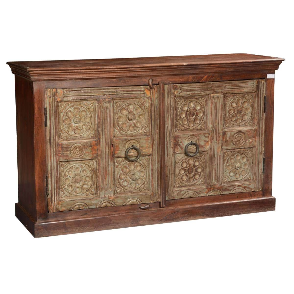 Tudor Gothic Mango & Reclaimed Wood Sideboard Buffet Cabinet. Full resolution‎  file, nominally Width 1200 Height 1200 pixels, file with #B28C19.