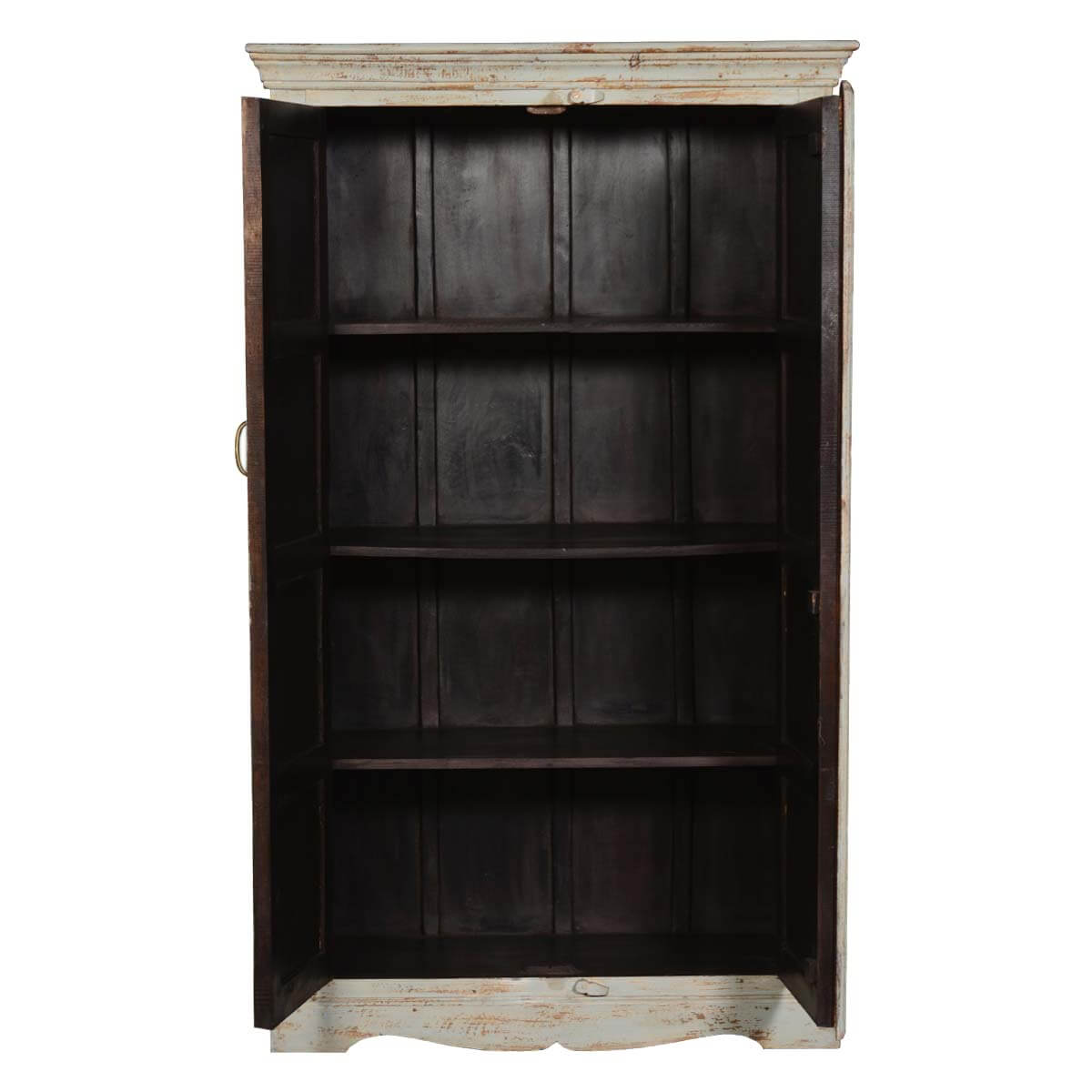 rustic solid wood french quarter bedroom armoire storage cabinet