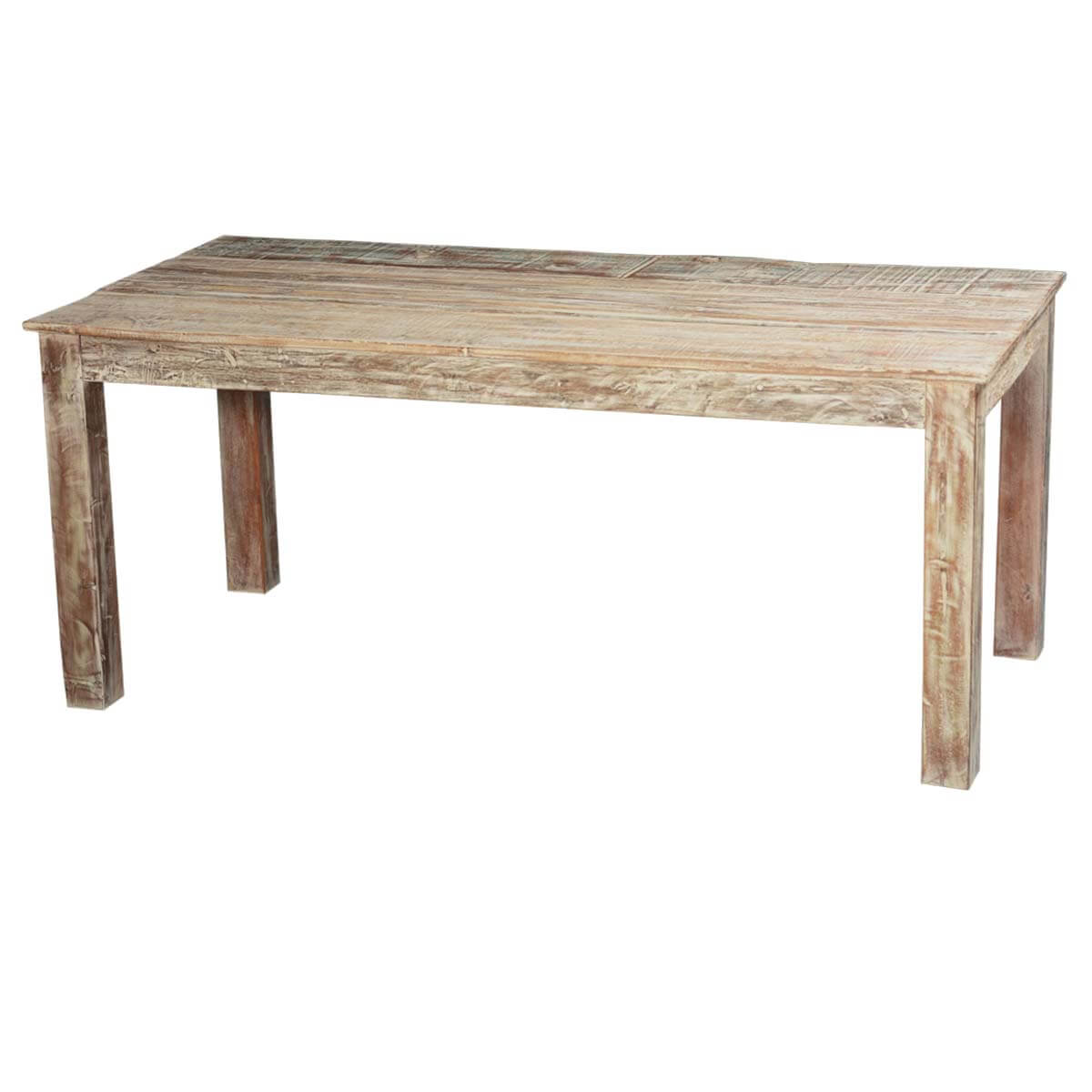 Rustic reclaimed wood 71 quot texas distressed dining table