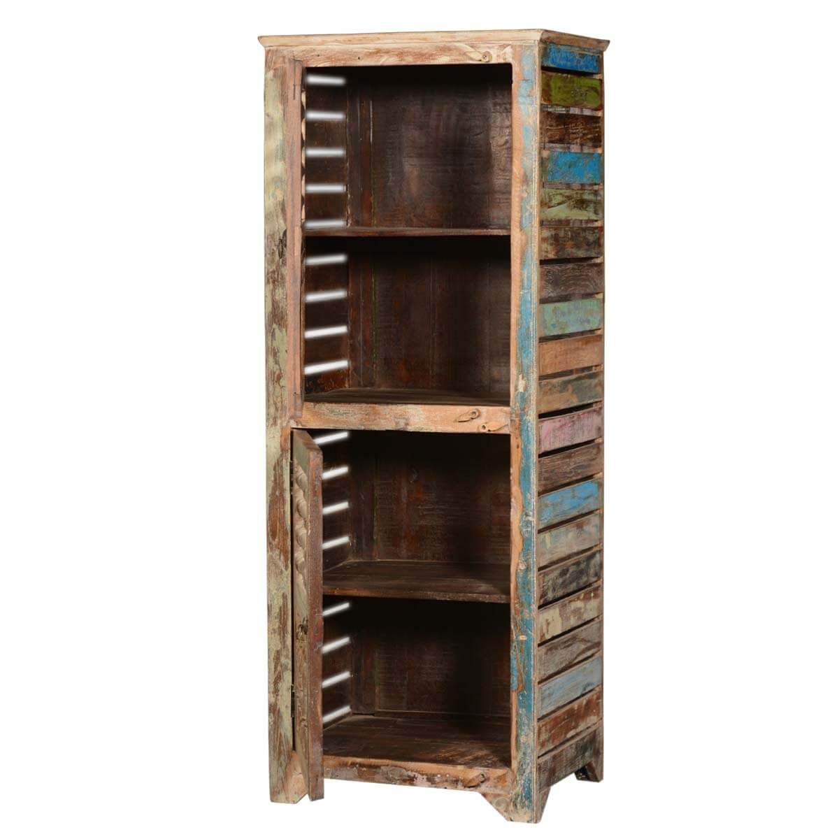 Rustic Reclaimed Wood Shutter Door 60 Narrow Kitchen