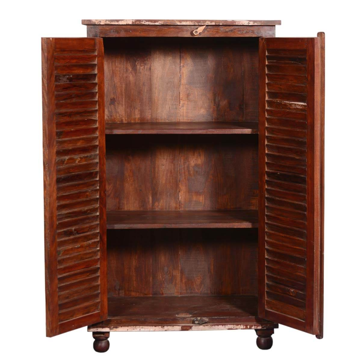 Painted Shutter Doors Reclaimed Wood Wardrobe Armoire Cabinet. Full resolution  pic, nominally Width 1200 Height 1200 pixels, pic with #B27F19.