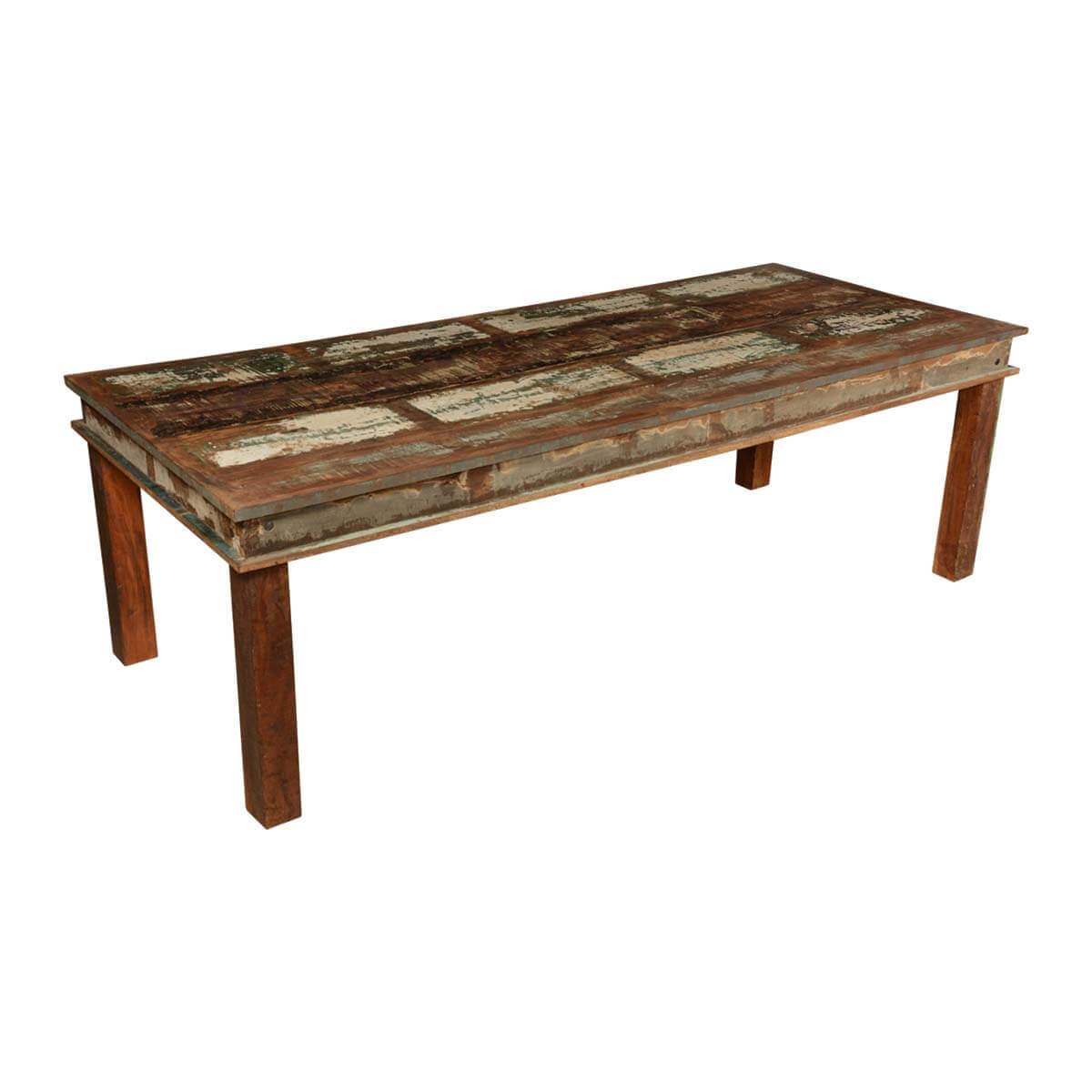 Rustic Wooden Dining Tables ~ Appalachian distressed reclaimed wood rustic dining table