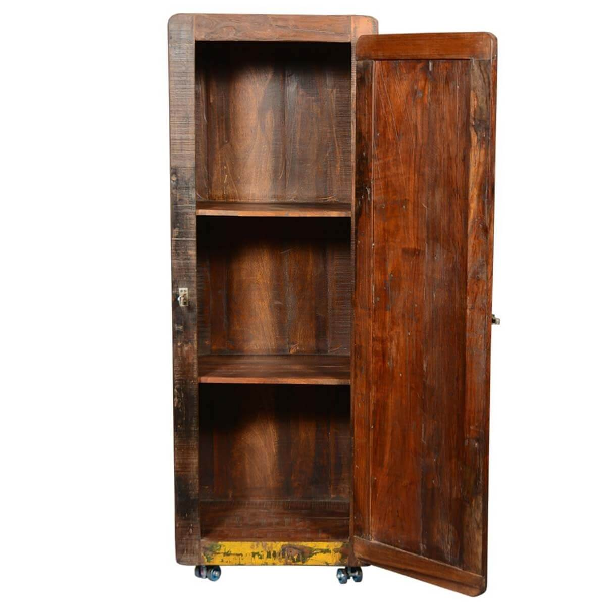 exceptional wood cabinet on wheels