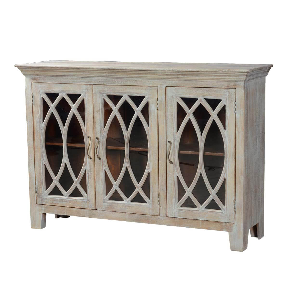 63 5 solid wood rustic buffet palisade glass door sideboard for Sideboard glas