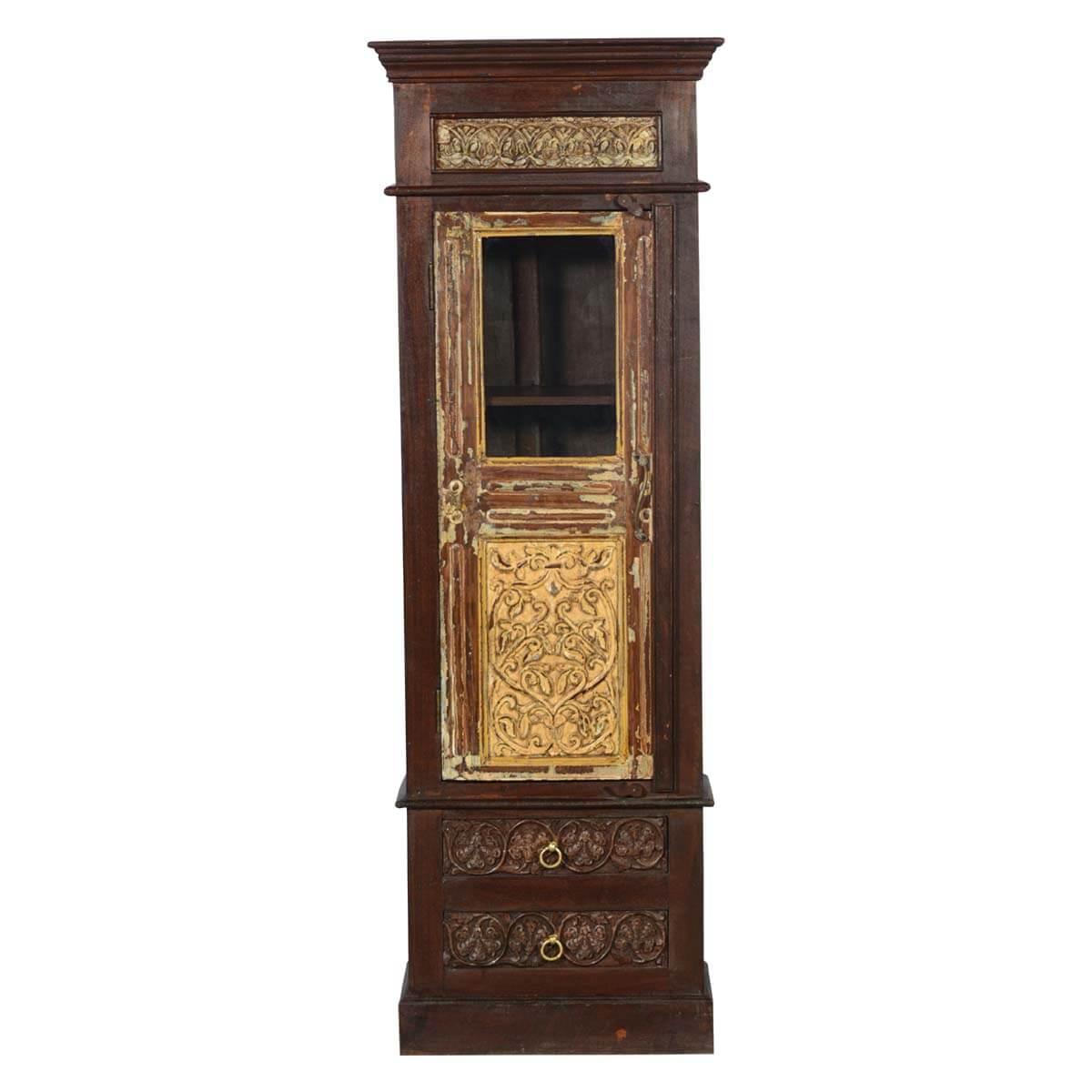 Wonderful image of  Elizabethan Golden Mango & Reclaimed Wood Wardrobe Armoire w Drawers with #B28C19 color and 1200x1200 pixels