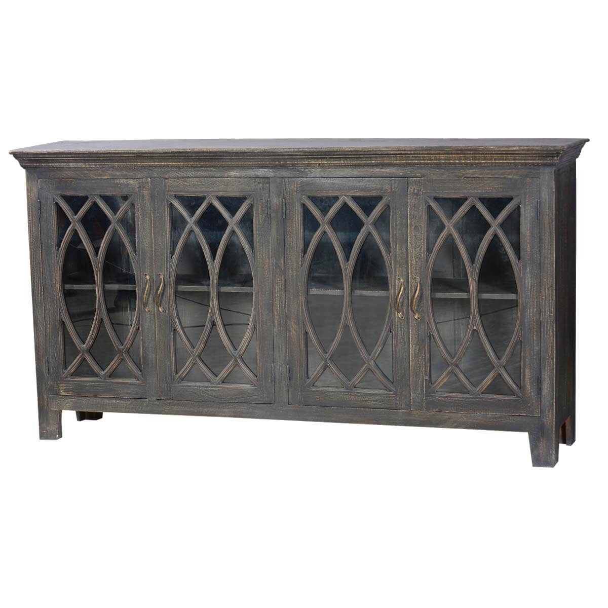 18th C English Smokey Mango Wood Display Sideboard Buffet Credenza. Full resolution‎  file, nominally Width 1200 Height 1200 pixels, file with #B48317.