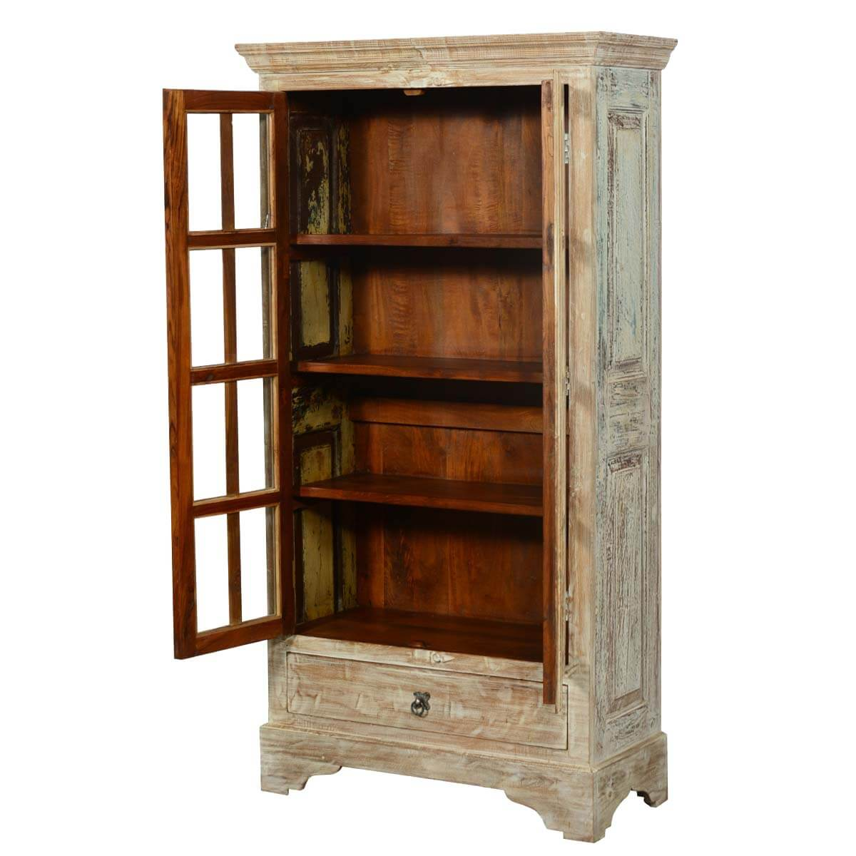 solid wood storage cabinet rustic new orleans wardrobe armoire. Black Bedroom Furniture Sets. Home Design Ideas