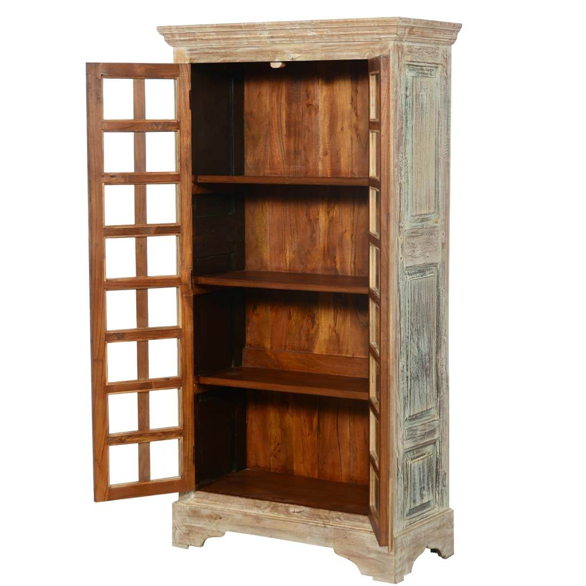 Solid Wood Bedroom Armoire ~ Hampshire rustic solid wood quot storage cabinet bedroom