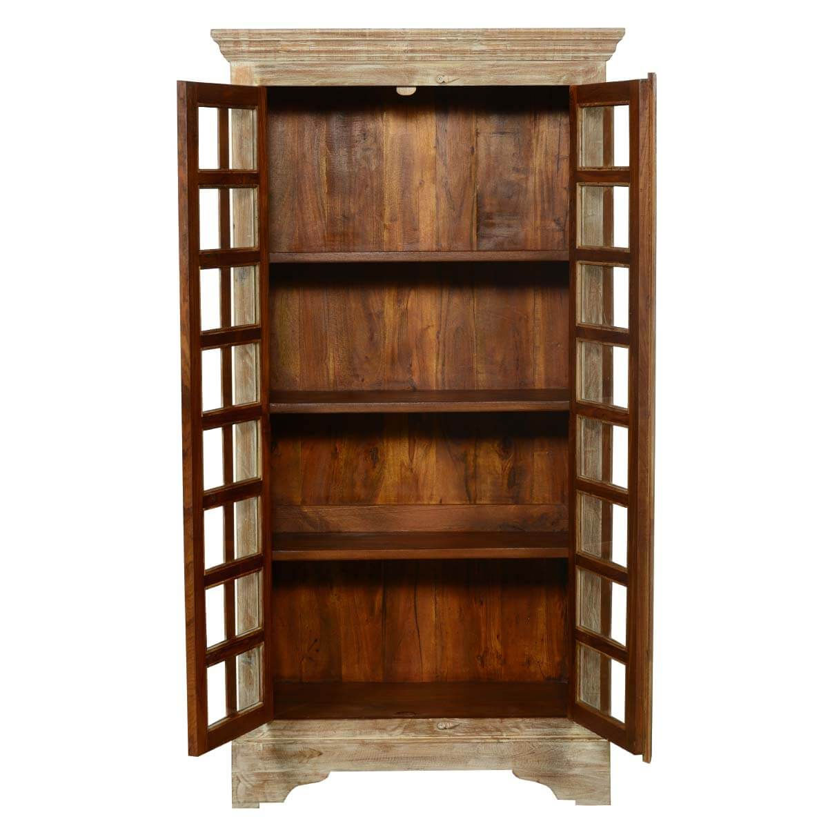 hampshire rustic solid wood 72 5 storage cabinet bedroom armoire