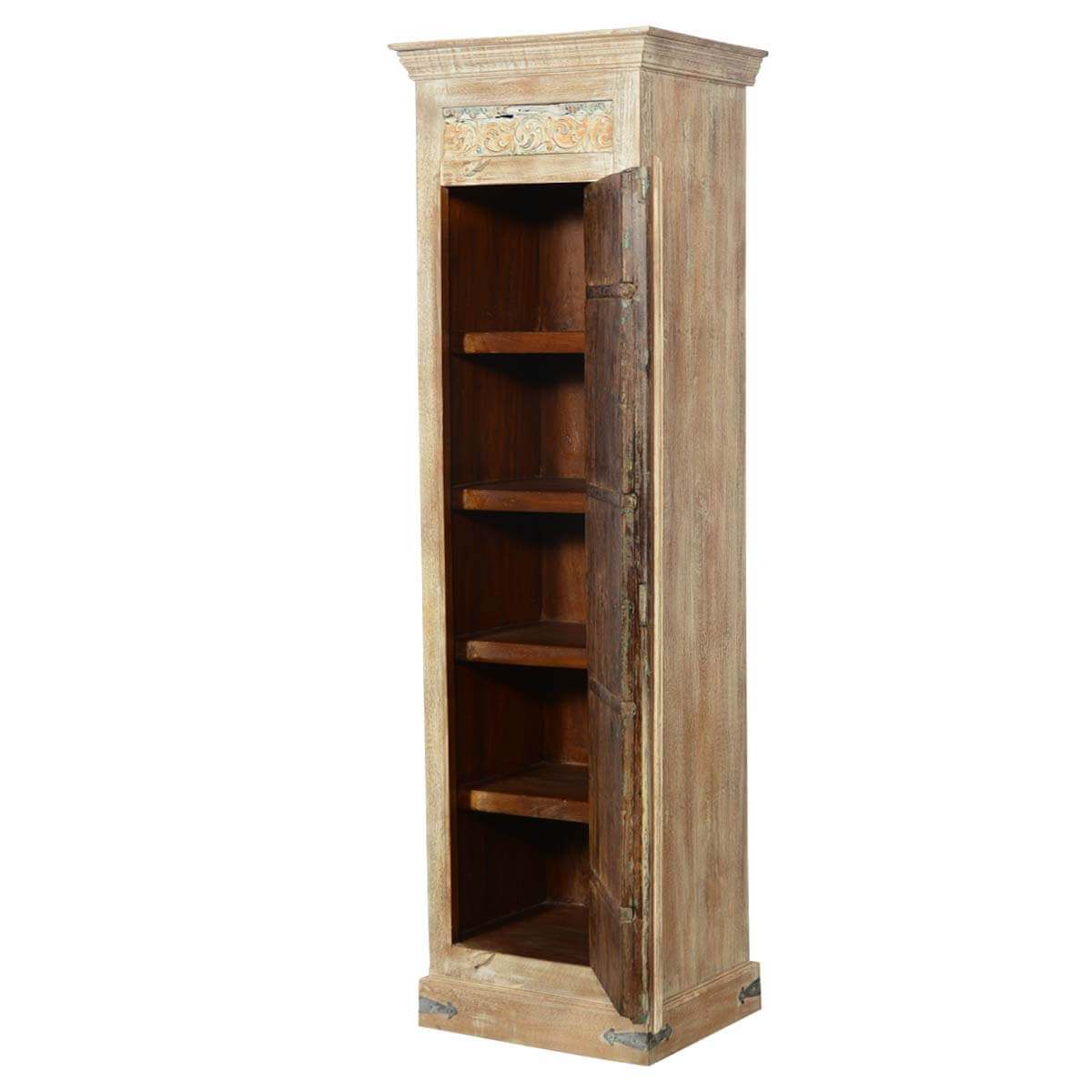 Tall Wooden Storage Cabinets ~ Quot tall reclaimed wood storage armoire cabinet