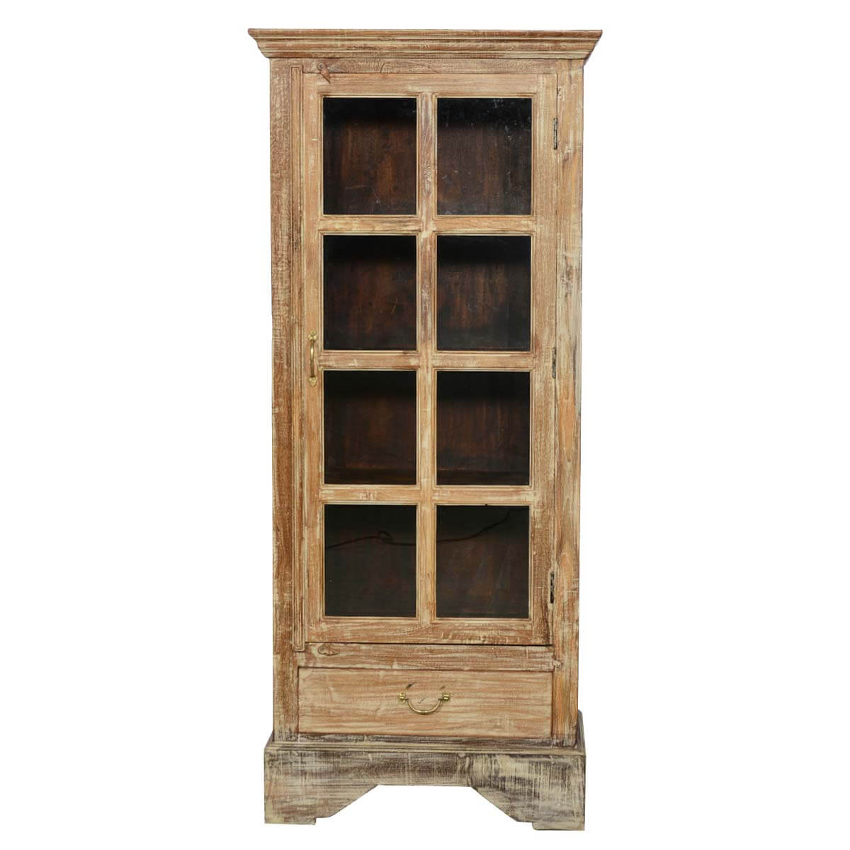 Solid Wood Bedroom Armoire ~ Rustic solid wood glass doors bedroom armoire wardrobe w