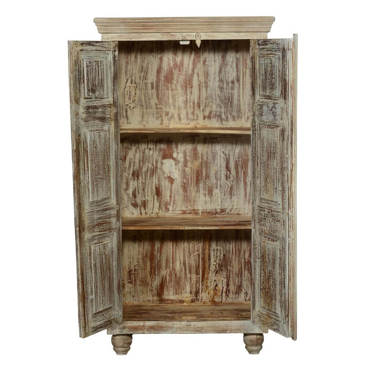 Distressed Bedroom Sets Bedroom Cupboards With Mirror Sliding Doors Bedroom Colour As Per Vastu Shabby Chic Bedroom Sets: Duson Rustic Distressed Solid Wood Armoire