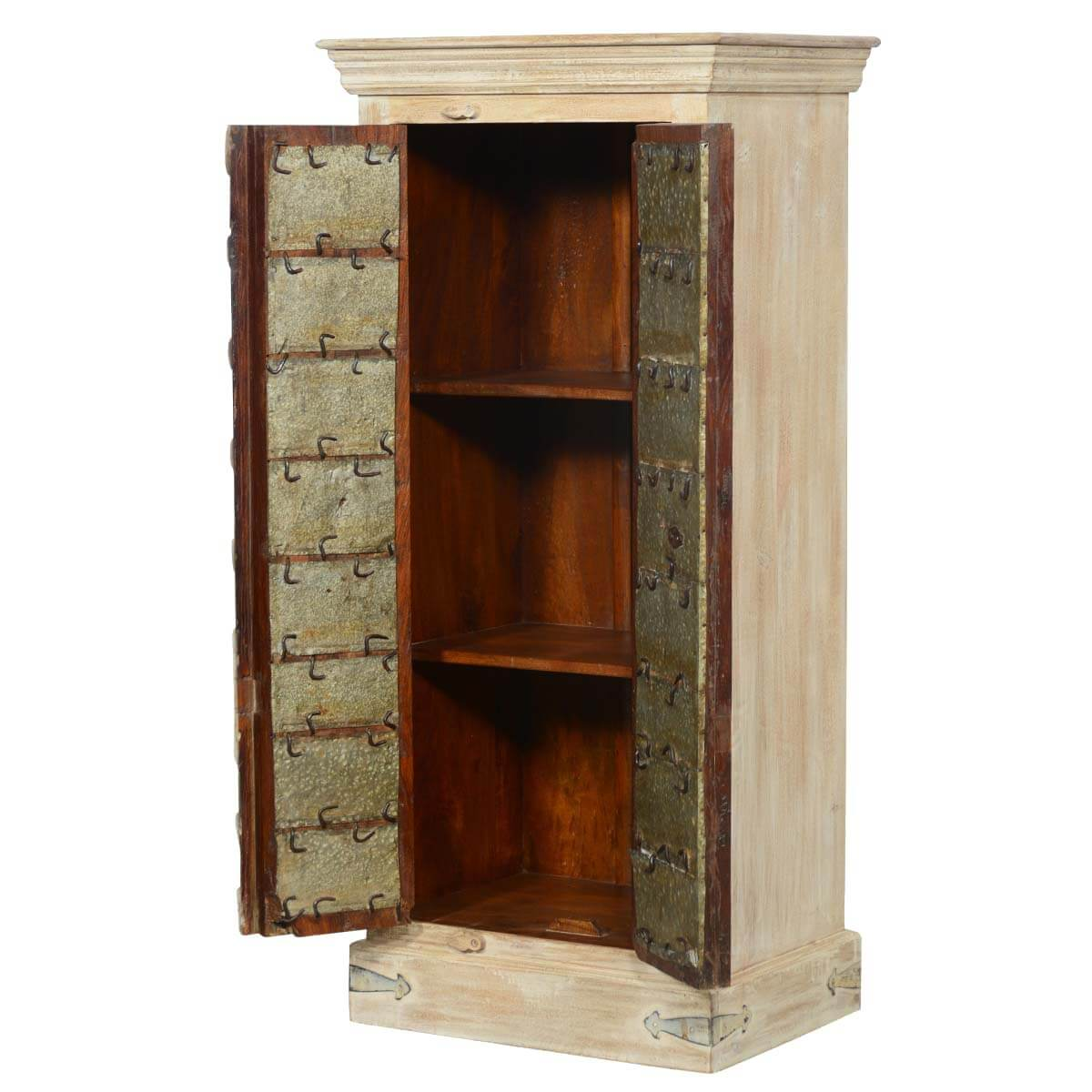 vintage gates reclaimed wood storage cabinet bedroom armoire