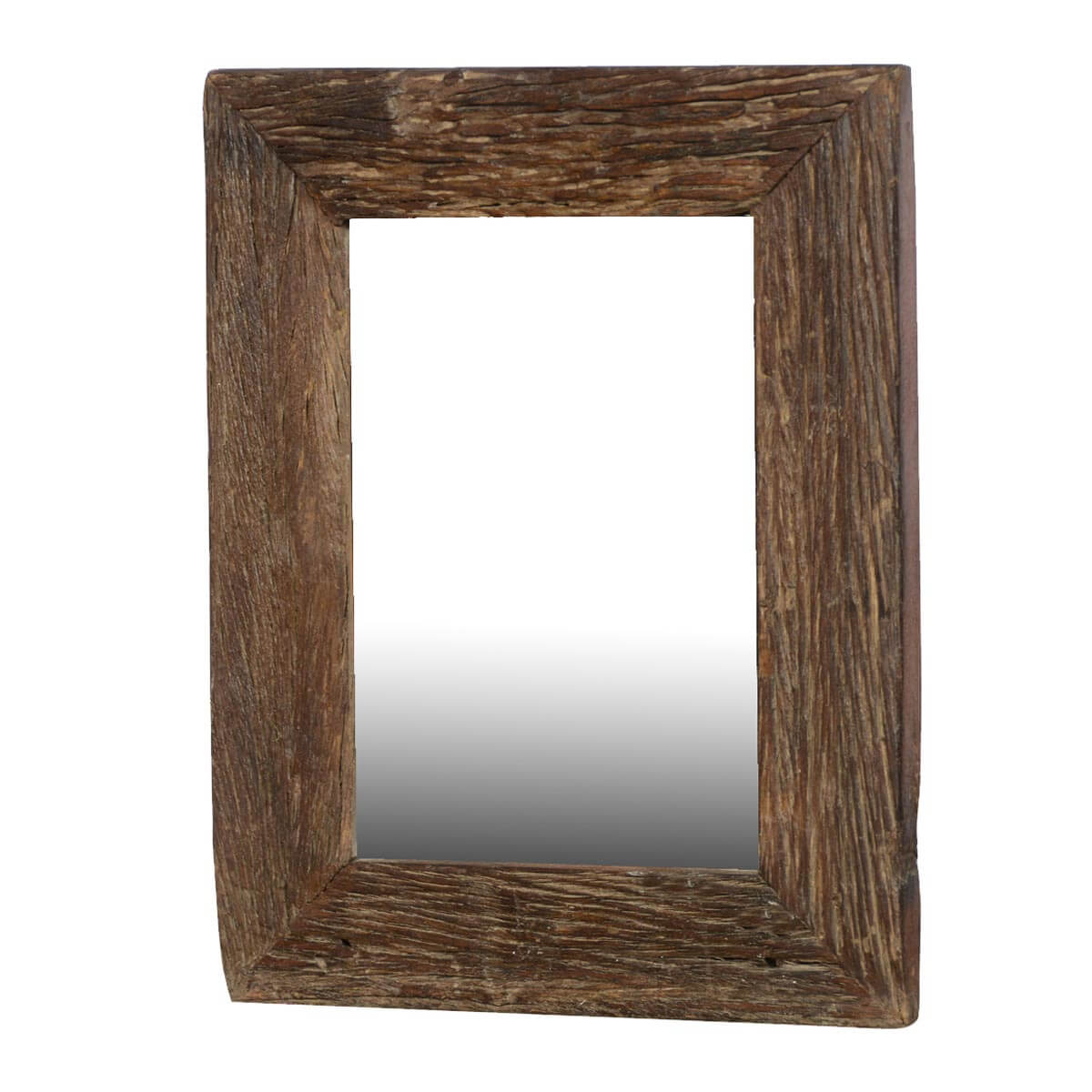 Appalachian rustic reclaimed wood 23 5 wall mirror frame for Rustic mirror