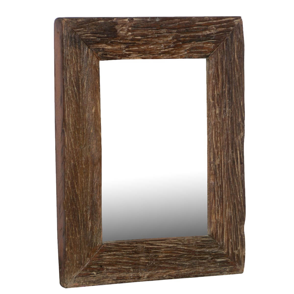 Appalachian rustic reclaimed wood 23 5 wall mirror frame for Mirror frame