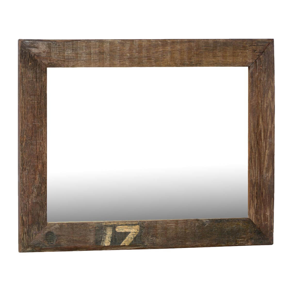 lucky 17 rustic large reclaimed wood wall mirror w simple