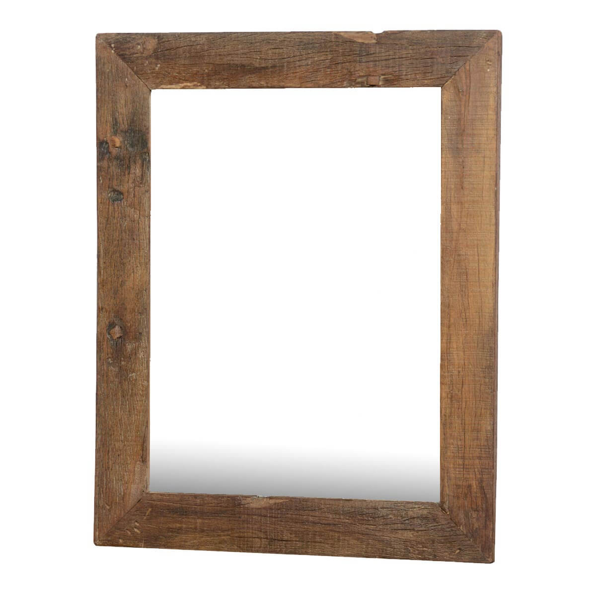 Appalachian rustic large reclaimed wood wall mirror w for Wood framed mirrors
