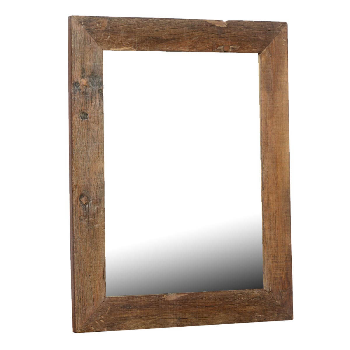 Appalachian rustic large reclaimed wood wall mirror w for Rustic mirror