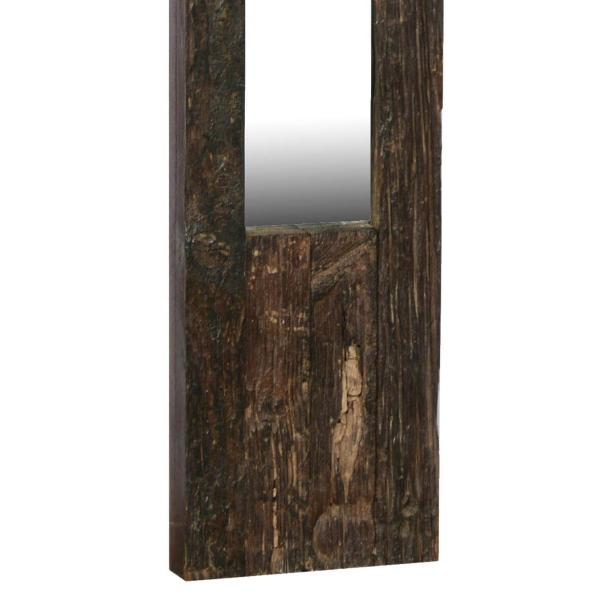 Rustic farmhouse reclaimed wood handmade 53 long wall mirror for Rustic mirror