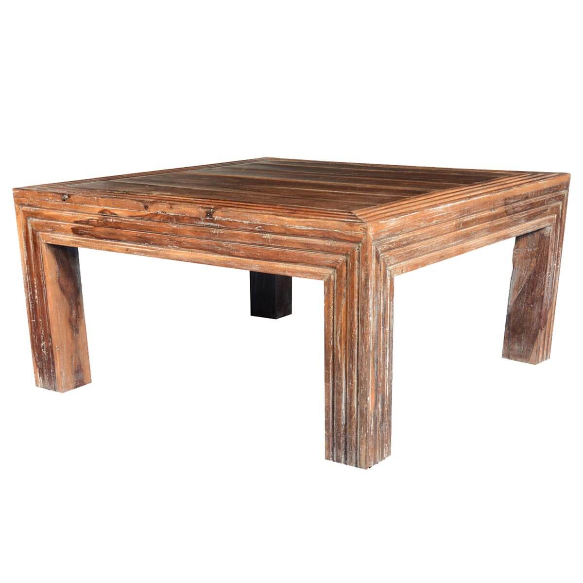 Reclaimed Wood Square Coffee Table Reclaimed Wood Square Coffee Table Modern Coffee Tables