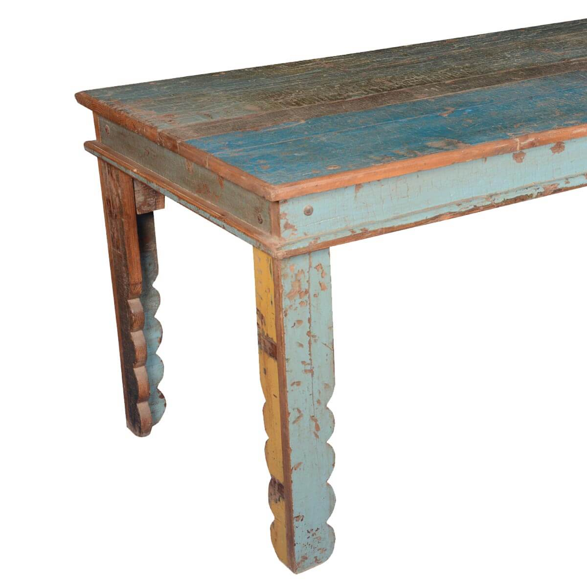 Kitchen Table With Bench Rustic Kitchen Tables And Table: Rustic Farmhouse Reclaimed Wood Rectangular Kitchen Table