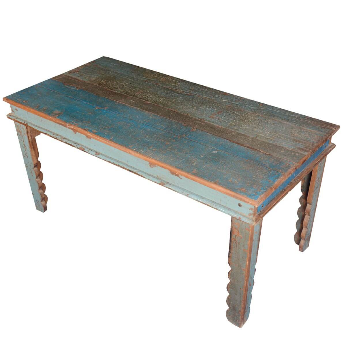 Rustic Farmhouse Reclaimed Wood Blue Kitchen Table : 63904 from www.sierralivingconcepts.com size 1200 x 1200 jpeg 137kB